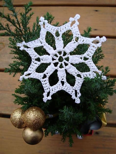 christmas tree snowflake pattern crochet ornaments free patterns the whoot