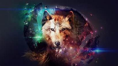 Wallpapers Neon Wolf Phone Abstract Android