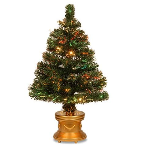 national tree fiber optic radiance firework tree with gold base 32 inch christmasshack