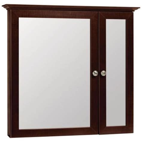 Glacier Bay Medicine Cabinet Mirror glacier bay 31 in x 29 in surface mount mirrored
