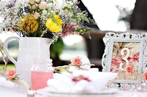 shabby chic style part 2 table decoration