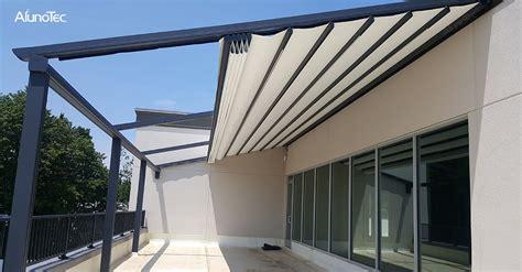 retractable awning aluminum pergola alunotec