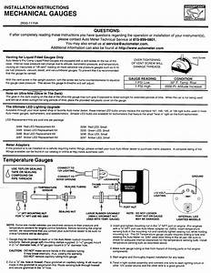 Info  Autometer Mechanical Gauge Instructions
