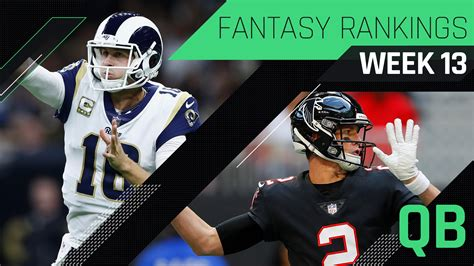 week  fantasy rankings qb sports love