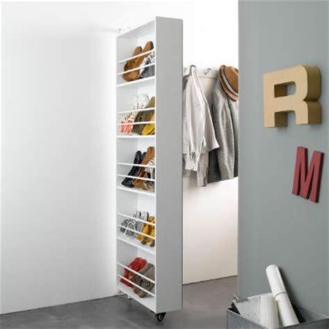 armoire chaussures pivotante avec miroir jusqu 224 15 paires ballik la redoute magazine