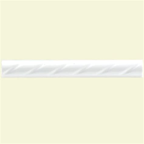 merola tile white rope 1 in x 8 in ceramic pencil wall