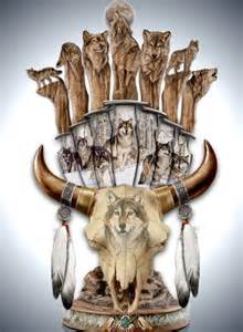 Native American Wolf Knives