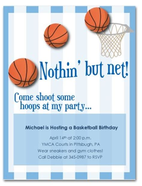 printable basketball birthday invitation template
