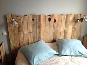 Faire Une Tête De Lit En Bois : tete de lit en palette fabriquer tete de lit tutoriel fabrication tete de lit en palette ~ Teatrodelosmanantiales.com Idées de Décoration
