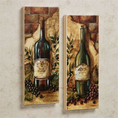 amazing old wine bottle pictures as vintage kitchen wall