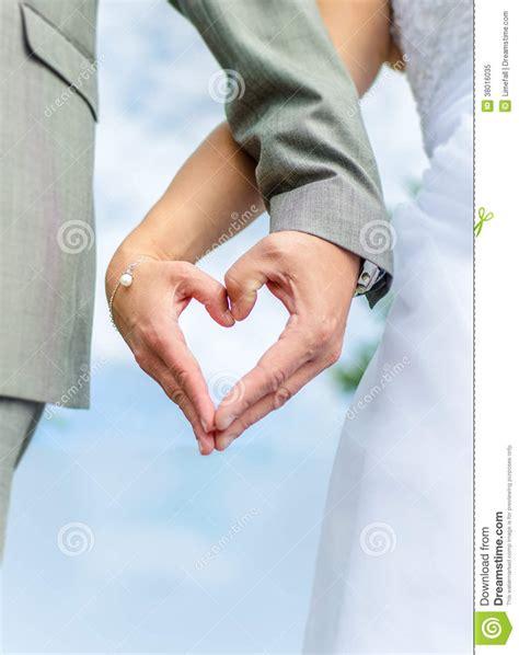 Wedding couple hands stock image. Image of romance