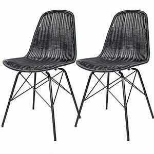 Chaise En Résine Tressée : chaise tiptur en r sine tress e noire lot de 2 commandez les chaises tiptur en r sine ~ Dallasstarsshop.com Idées de Décoration