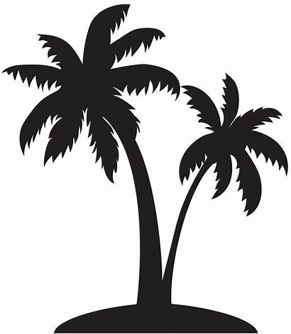 Palm Tree Silhouette Transparent Clip Palms Clipart