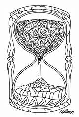 Hourglass Colouring App Coloring Therapy Iphone Zentangle Adult Colortherapy sketch template