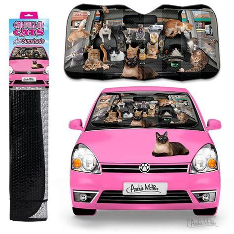 Car Full of Cats Auto Sunshade ? Archie McPhee