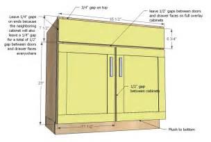 ana white kitchen cabinet sink base 36 full overlay face