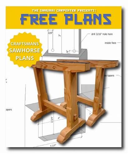 Plans Sawhorse Workbench Carpenter Samurai Plan Pallet