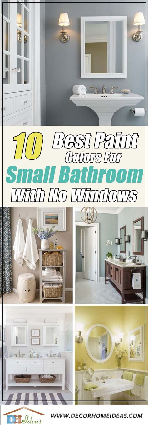 Windowless Bathroom Paint Colors by 10 Best Paint Colors For Small Bathroom With No Windows