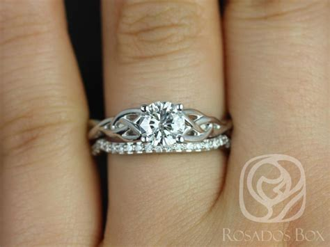 rosados box cassidy 3 4cts white gold diamond entwined celtic love knot wedding love