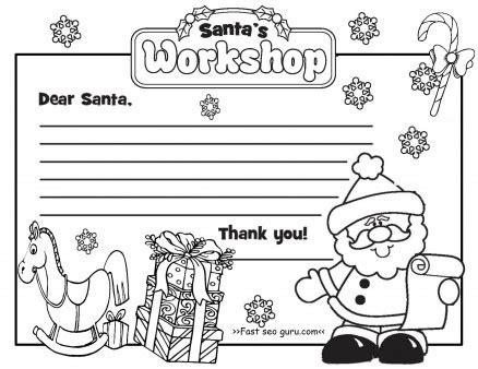 printable christmas letter  santa claus write template