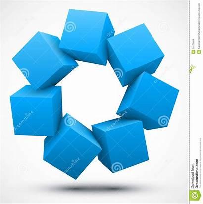 Cubes Cube Blu Cuba Bleu Cubos Abstract