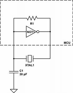 oscillator why are crystal capacitors considered to be With datasheet what is quotinput hysteresisquot electrical engineering stack