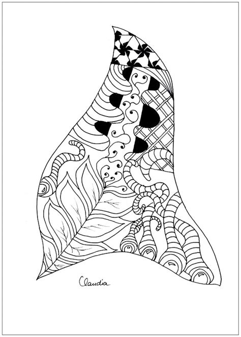 zentangles  stock  claudia coloring pages  adults