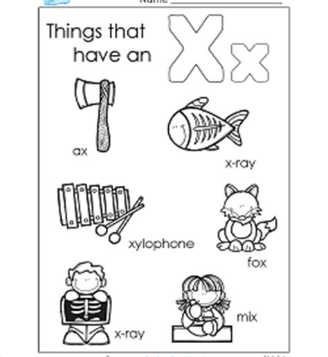 things that begin with a z a wellspring of worksheets 456 | things that begin with x 250x272