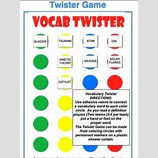 Vocabulary Twister  A Fun Educational Game For All Ages It Can Be Modified To Use As A Grammar