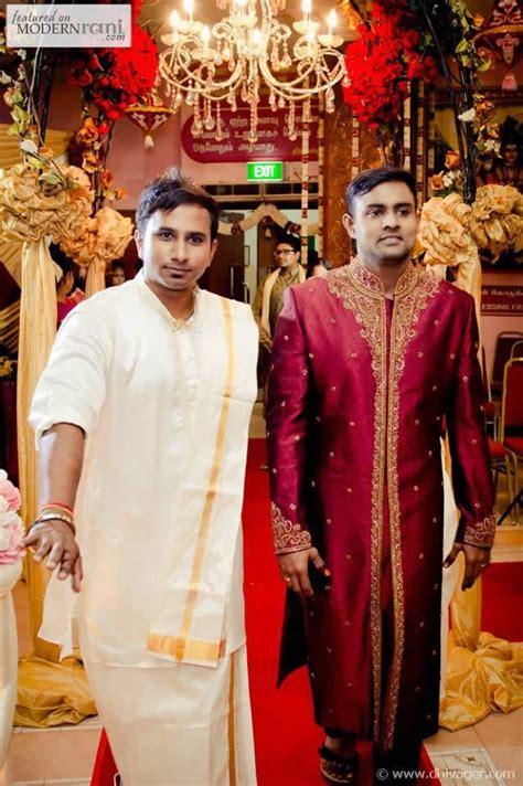 red groom sherwani kurta south asian hindu tamil wedding