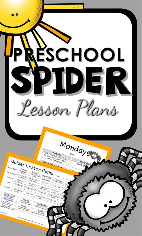 preschool spider theme printable lesson plans and 824 | 6ce6497d36b5709cd76241ee4474cddb