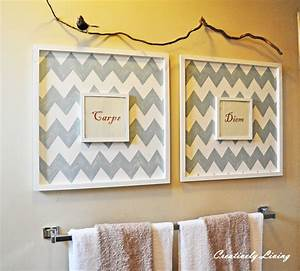Diy wall art bathroom : Quot must do projects for use some junk as decor