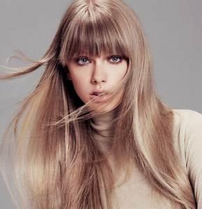 Lange Glatte Haare : schicke frisuren mit pony ~ Frokenaadalensverden.com Haus und Dekorationen