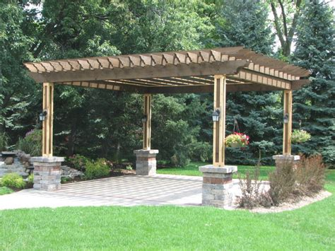 pergola paver patio table planterbox in willowbrook