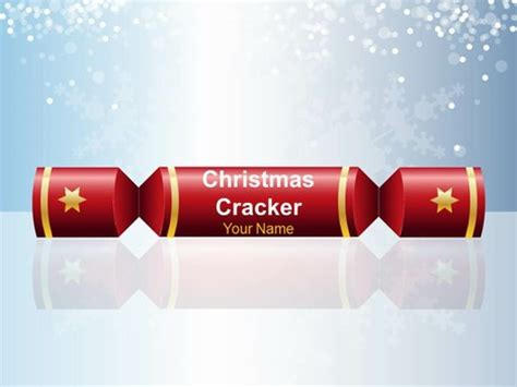 christmas cracker cool powerpoint template