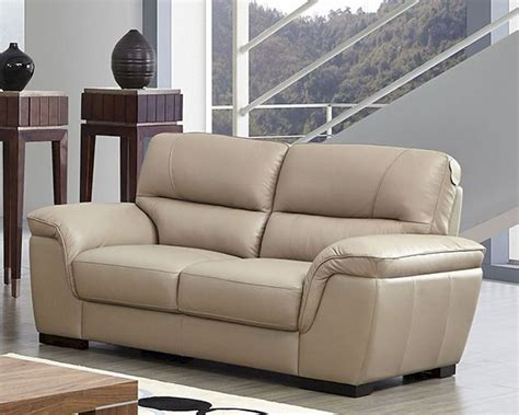 beige leather sofa and loveseat modern leather loveseat in beige color esf8052l