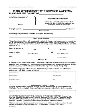 16 Printable step parent adoption papers Forms and