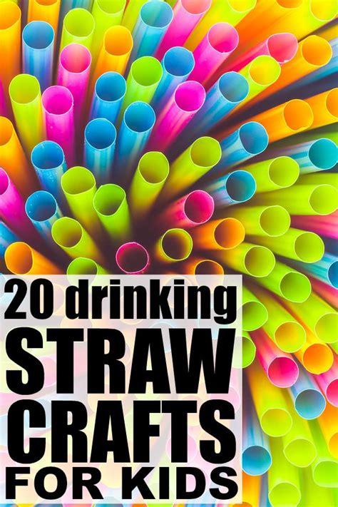 drinking straw crafts  kids