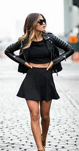 25 best ideas about jupe patineuse noire on pinterest With zara robe bleu marine