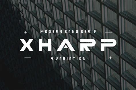 XHARP Futuristic Modern Font - Dafont Free