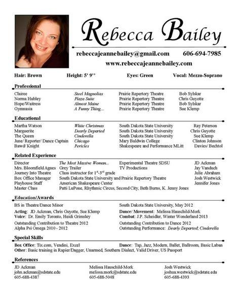 unique acting resume template ideas  pinterest