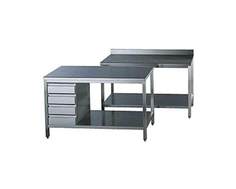 table cuisine inox plonges et tables inox gamme 700 standard top