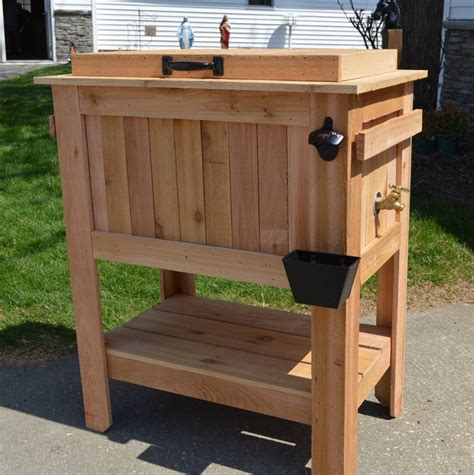 patio coolers with stands wooden chest tips and tricks