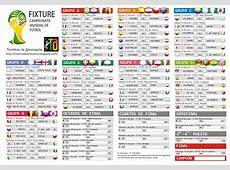 Fixture del Mundial Brasil 2014Descarga e Imprecion