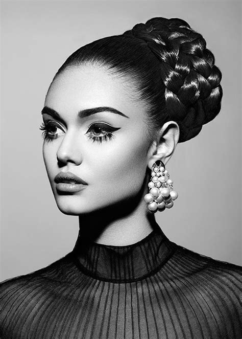 vintage black white fashion editorial portrait beauty
