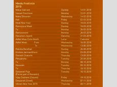 Hindu festival calendar 2018 Download Hindu calendar