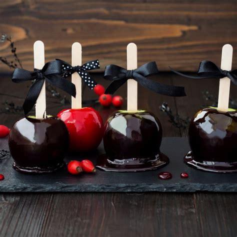 recette pommes damour noires dhalloween facile rapide