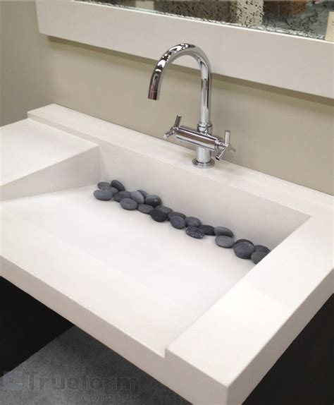 concrete  custom sink contemporary bathroom sinks