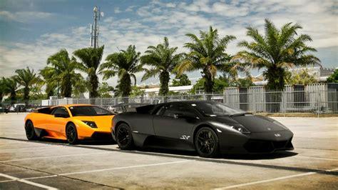 Black Orange Lamborghini Murcielago Murciélago Lp670-4 Sv