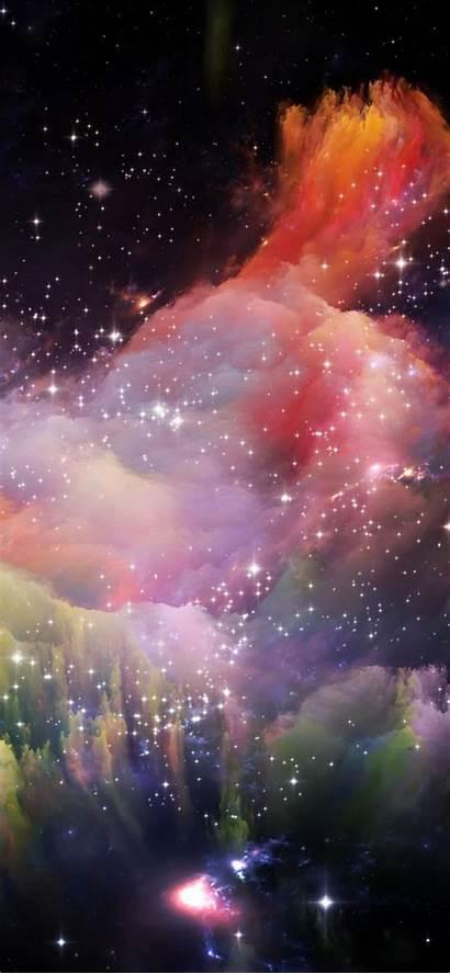 Iphone Space Wallpapers Rainbow Pantalla Fondos Espacio